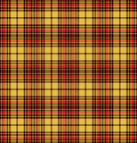 Nahtloses Muster der Schottenstoffkontrollplaid-Beschaffenheit in Gelbem, im Rot und im Braun Lizenzfreies Stockbild