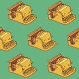 Nahtloses Muster der Schreibmaschine Stockfoto