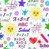 Nahtloses Muster der Schule   Lizenzfreie Stockfotografie