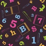 Nahtloses Muster der Schule lizenzfreie abbildung