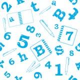 Nahtloses Muster der Schule stock abbildung