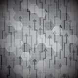 Nahtloses Muster der schwarzen Pfeile Stockbild