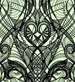 Nahtloses Muster der schwarzen Spitzes lizenzfreie abbildung