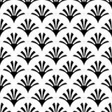 Nahtloses Muster der schwarzen Verzierung auf weißem Hintergrund lizenzfreie stockbilder