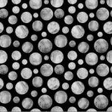 Nahtloses Muster der Schwarzweiss-Kreisplaneten Lizenzfreie Stockfotografie