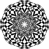 Nahtloses Muster der Schwarzweiss-Wiederholung und Vektorbild Stockbilder