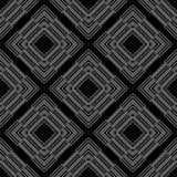 Nahtloses Muster der Schwarzweiss-Wiederholung und Vektorbild Lizenzfreie Stockfotos