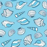 Nahtloses Muster der Seashells Stockbild
