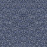 Nahtloses Muster der silbernen blauen Luxusmarine Stockbilder