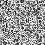 Nahtloses Muster der Spitzes mit Blumen Stockfotos