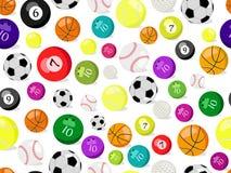 Nahtloses Muster der Sportkugeln Lizenzfreie Stockbilder