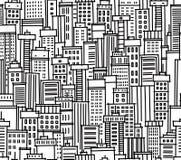 Nahtloses Muster der Stadt Lizenzfreie Stockfotos