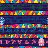 Nahtloses Muster der Stammes- Mischungseulen-Art Lizenzfreies Stockbild
