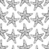 Nahtloses Muster der Starfish Lizenzfreie Stockbilder