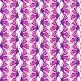 Nahtloses Muster der stilisierten bunten Blume für Ihr Design Grafische Vektor-Illustration Nahtloses Blumenmuster, Hand gezeichn Lizenzfreie Stockfotografie