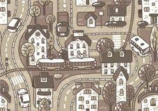 Nahtloses Muster der Straße. Lizenzfreies Stockbild