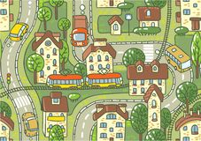 Nahtloses Muster der Straße Stockfoto
