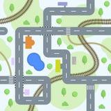 Nahtloses Muster der Straßen lizenzfreie abbildung
