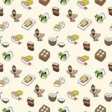 Nahtloses Muster der Sushi Lizenzfreies Stockbild