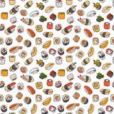 Nahtloses Muster der Sushi Lizenzfreie Stockbilder