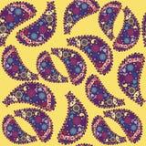 Nahtloses Muster der türkischen Gurke und nahtloses PA Stockbild