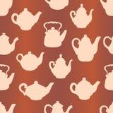 Nahtloses Muster der Teekannen Lizenzfreie Stockfotografie