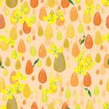 Nahtloses Muster der Tropfenaquarell Canola-Blume lizenzfreie abbildung
