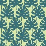 Nahtloses Muster der tropischen Blätter, moderne Hand gezeichnetes Naturlaub Stockfotografie