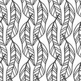 Nahtloses Muster der tropischen Blätter, moderne Hand gezeichnetes Naturlaub Stockfoto
