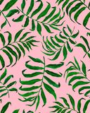 Nahtloses Muster der tropischen Palmbl?tter lizenzfreie abbildung