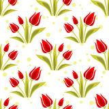Nahtloses Muster der Tulpen Lizenzfreies Stockfoto