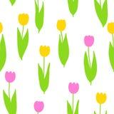 Nahtloses Muster der Tulpen Stockfotografie
