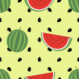 Nahtloses Muster der unbedeutenden Wassermelonenhohen qualität Nettes nahtloses Muster mit Wassermelonen Es kann für Leistung der Lizenzfreie Stockbilder