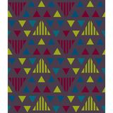 Nahtloses Muster der unregelmäßigen Dreiecke Stock Abbildung