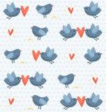 Nahtloses Muster der Vögel Stockfotos