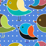 Nahtloses Muster der Vögel lizenzfreie abbildung