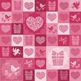 Nahtloses Muster der Valentinsgrüße Stockfoto