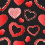 Nahtloses Muster der Valentinsgrußinneren Lizenzfreies Stockbild