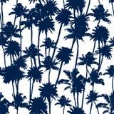 Nahtloses Muster der Vektor-Palmen Stockfotografie