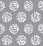 Nahtloses Muster der vektorabstrakten Kreise Lizenzfreie Stockfotografie