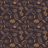 Nahtloses Muster der Vektorbäckerei Hand gezeichnete Sammlung Lizenzfreies Stockbild