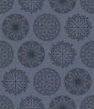 Nahtloses Muster der vektorblumenverzierungen Stockfotos