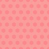 Nahtloses Muster der vektorbunten orange Hexagone Stockbild