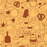 Nahtloses Muster der Vektorküche Lizenzfreie Stockbilder