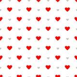 Nahtloses Muster der Vektorliebe mit Herzen Lizenzfreie Abbildung