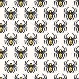 Nahtloses Muster der Vektorspinnen stockfotos