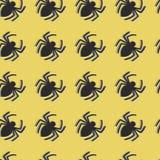 Nahtloses Muster der Vektorspinnen stockbilder