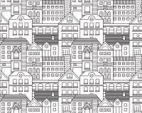 Nahtloses Muster der Vektorstadt Lizenzfreie Stockfotografie