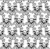 Nahtloses Muster der verrückten Schädel. lizenzfreie abbildung
