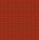 Nahtloses Muster der Wand der roten Backsteine Lizenzfreies Stockfoto
